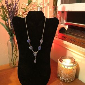 Purple Crystal Geode Necklace